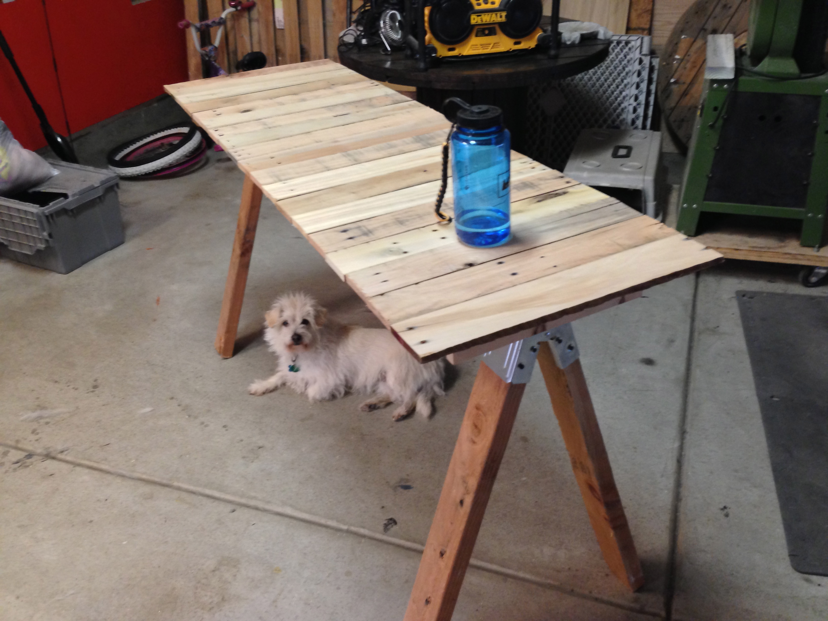 DIY Project Reclaimed Pallet Wood Desk